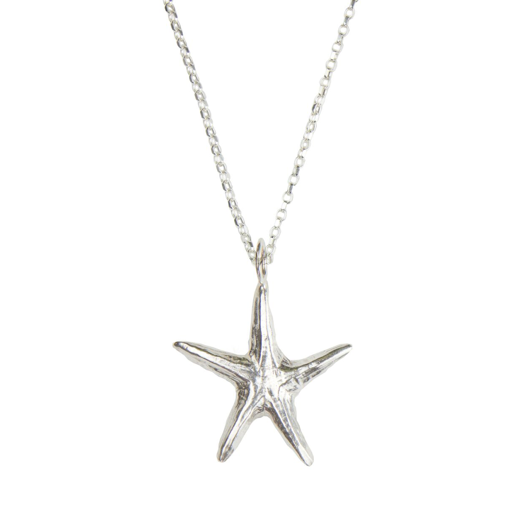 "Sterling silver star fish on 24"" chain"