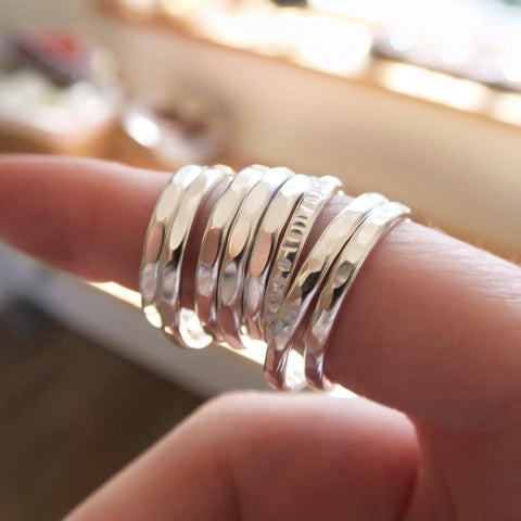 Chunky stacking rings - The Silver Grasshopper