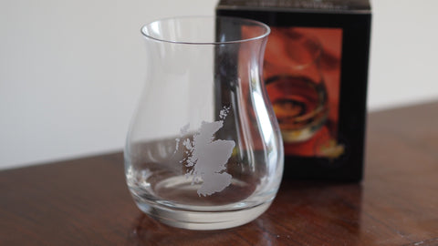 Scotland etched mixer glass