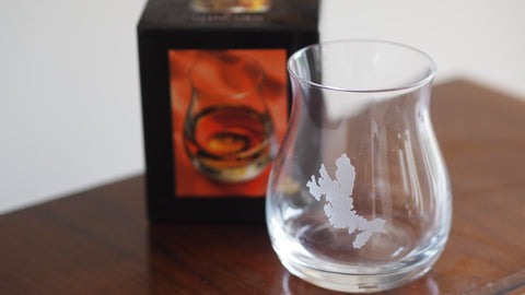 Skye etched mixer glass