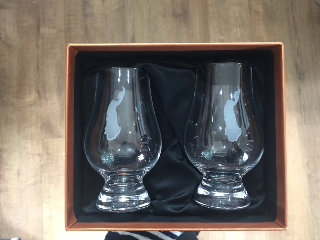 Raasay tasting glasses with gift box