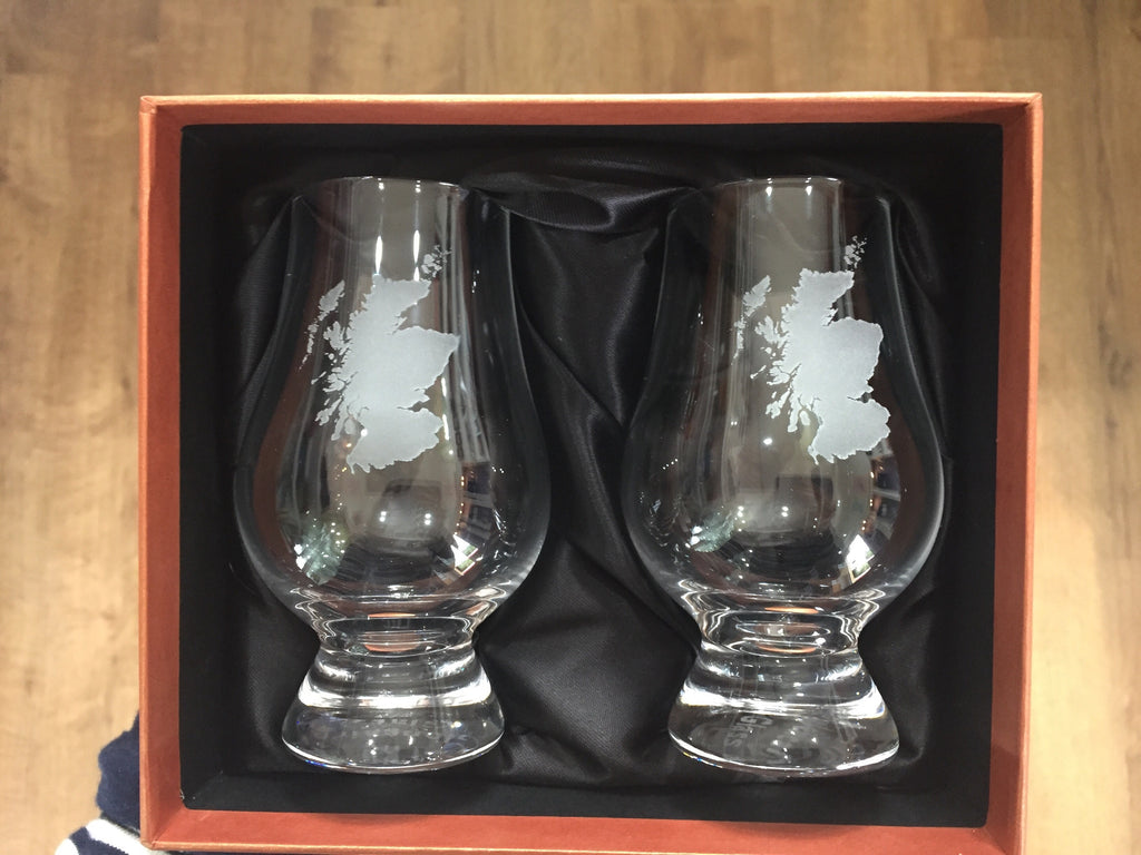 Scotland tasting glasses with gift box