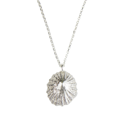 Sterling silver limpet pendant