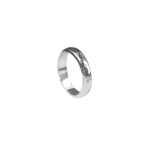 Heavy hammered Sterling silver ring