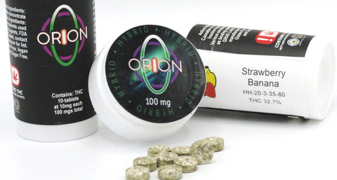 Orion Cannabis - Strawberry Banana - 1000mg 40pk - Sativa Tablets