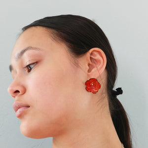 Imperial Flower Enameled Earrings