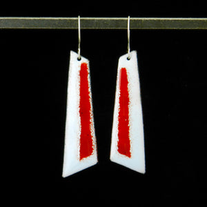 Geo Stripe Long Dangle Earrings