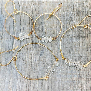 Herkimer Diamonds Hoop Earrings