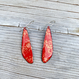 Imperial Petal Enameled Earrings