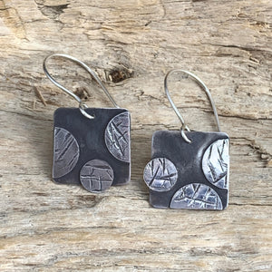 Rebels Square & Dots Earrings