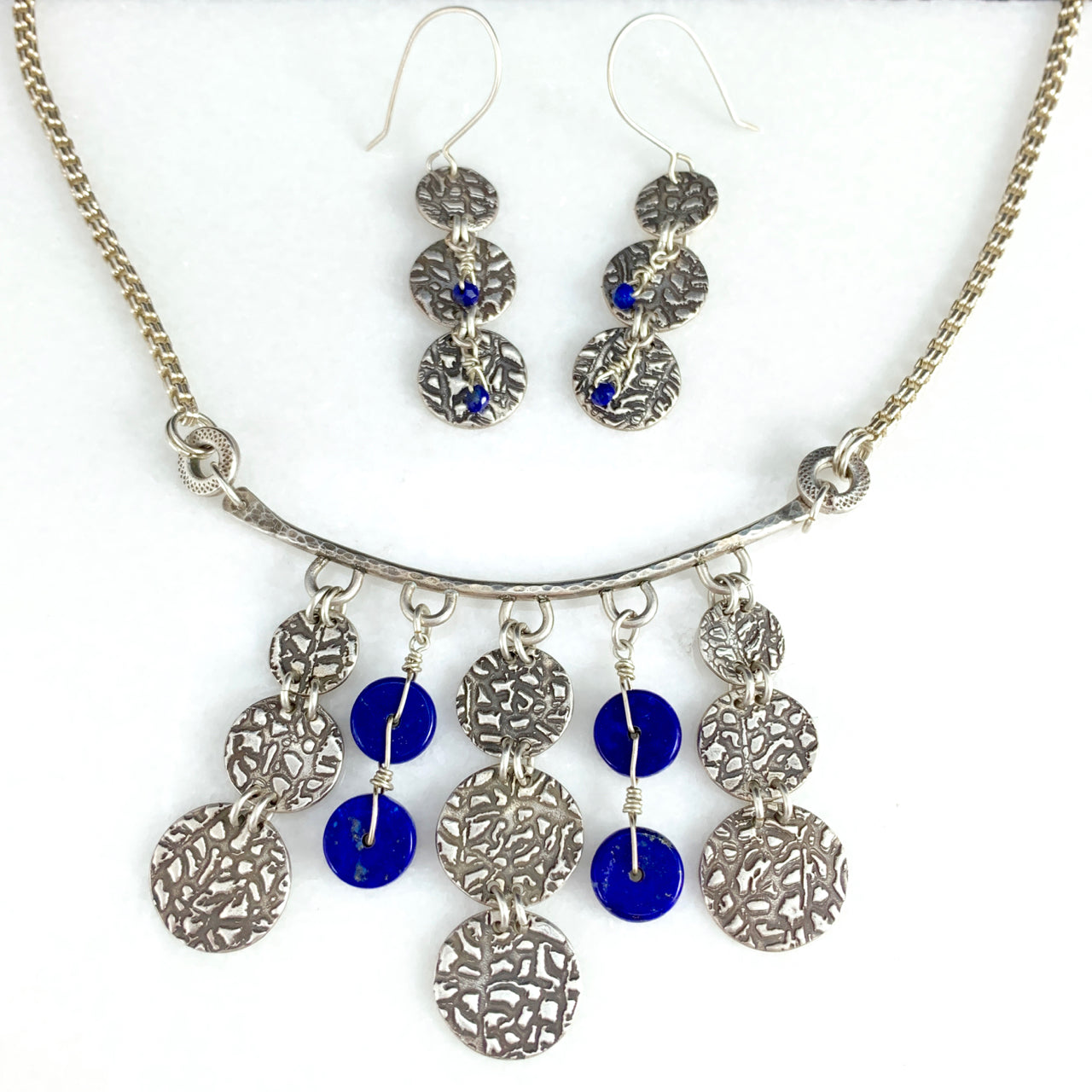 SOLD-Tribal Armament Pendant Necklace & Earrings