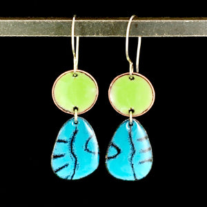 Bella Enameled Earrings