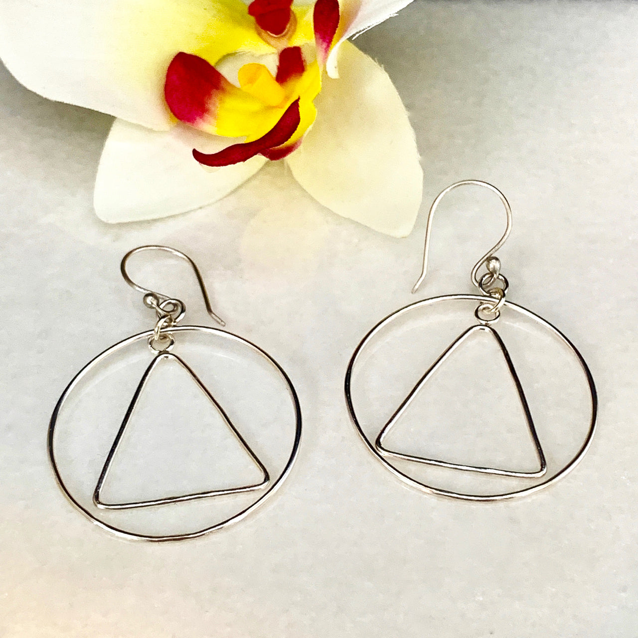 Freedom Circle & Triangle Earrings