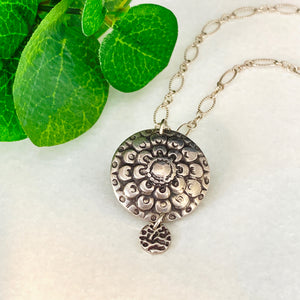 Moonflower Pendant Necklace
