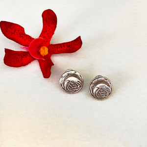 Rose Flower Post Earrings
