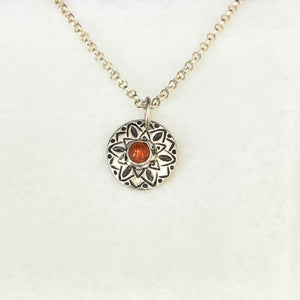 Sunflower Sun Stone Necklace