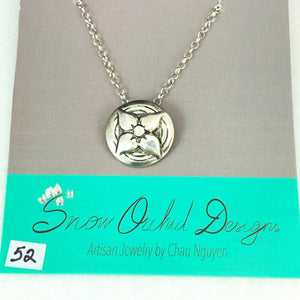 Star Lily Pendant Necklace