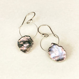 Pearl Drop Circle Earrings