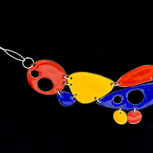 Geo Fusion Enameled Necklace & Earrings - Primary Colors