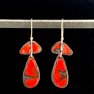 Geo Waterfall Enameled Necklace & Earrings - Fierce