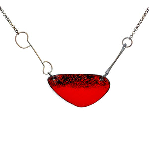 Euclidean Enameled Necklace - Rounded Triangle