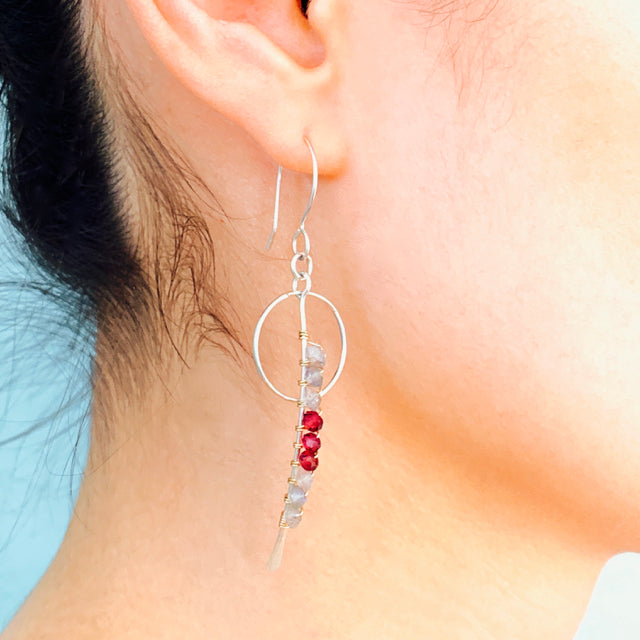 Thread The Needle Gems Wrapped Earrings