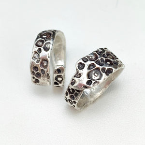 Contemporary Double Pools Adjustable Ring - Sz 9