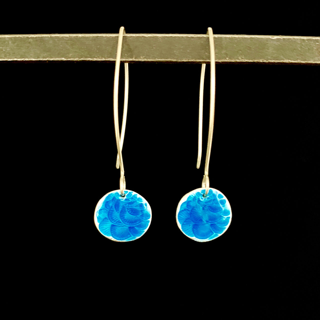Plume Enameled Earrings
