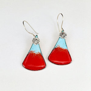Serena Enameled Teardrop Earrings
