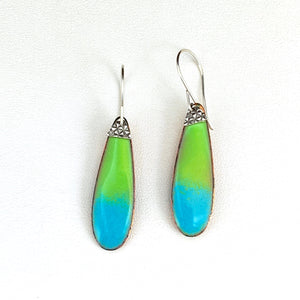 Serena Enameled Oblong Earrings