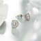 Silver Toned Swarovski Moonlight Crystal Stud Earrings - Yellow Chimes