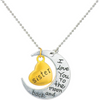 Sisters Love Special Silver Toned Moon pendant - Yellow Chimes