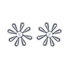 925 Silver Certified Purity Flower Studs Earrings - Yellow Chimes