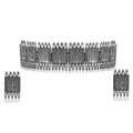German silver oxidised choker necklace set