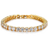 Gold Toned Swarovski Crystal Designer Tennis Bracelet - Yellow Chimes
