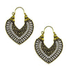 Vintage Fashion oxidised Gold Toned Chandbali Earrings - Yellow Chimes