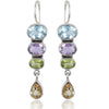 925 Silver Certified Purity Ethnic Stone Drop Earrings - Yellow Chimes