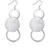 Statement  Style Silver Toned Dangler Earrings - Yellow Chimes