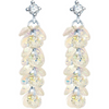 Silver Toned Swarovski Crystal Bunch Dangler Earrings