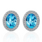 Silver Toned Swarovski Crystal Hues Oval Stud Earrings - Yellow Chimes