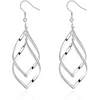 Designer Leafs Silver Toned Alloy Drop Earrings - Yellow Chimes