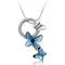 Swarovski Crystals Blue Butterfly Designer Pendant - Yellow Chimes