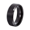 CasualWear Stainless Steel Black Band Ring