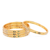 Ethnic Gold Plated Peacock Designer Traditional 4 Pcs Bangles Set.