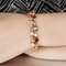 Swiss Cubic Zirconia Gold Toned Charm Bracelet - Yellow Chimes