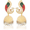 Traditional Gold Toned Pearl Moti Jhumka Earrings - Yellow Chimes