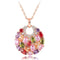Rainbow colours Rose Gold Toned Swiss Zircon Pendant - Yellow Chimes