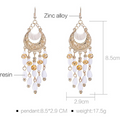 Dangling Fancy Party Wear Gold Toned Fusion Earrings - Yellow Chimes