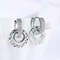 Platinum Plated A5 Grade Crystal Hoops Drop Earrings - Yellow Chimes