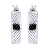 925 Sterling Silver Hallmark Bali Hoops Earrings - Yellow Chimes